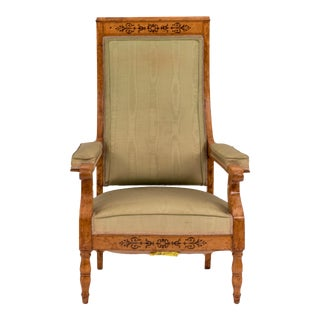 French Charles X Maple Arm Chair For Sale