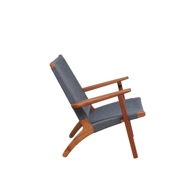 Mid Century Modern Gray Mahogany Lounge Chair - Image 3 of 5