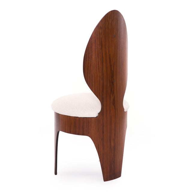 Henry Glass 'Spoon' Walnut Frame Dining Chairs - Set of 6 For Sale In Phoenix - Image 6 of 9