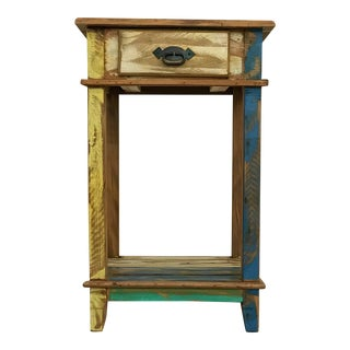 Reclaimed Peroba Rosa Wood Side Table/Nightstand