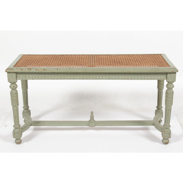 Antique Louis XVI Style Painted Bench - Image 10 of 10