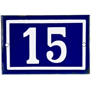 French Porcelain House Number 15