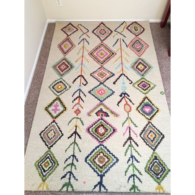 Berber Moroccan-Style Rug - 5′ × 8′ - Image 2 of 9