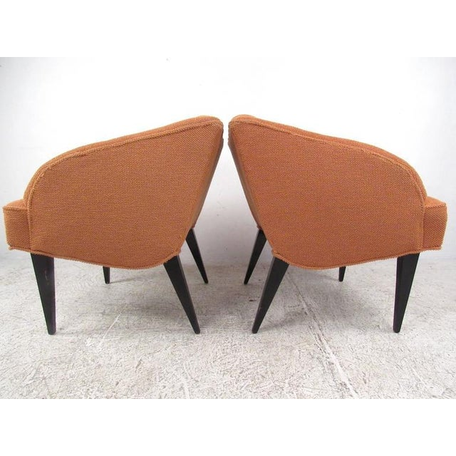 Vintage Modern Club Chairs - a Pair For Sale - Image 4 of 7