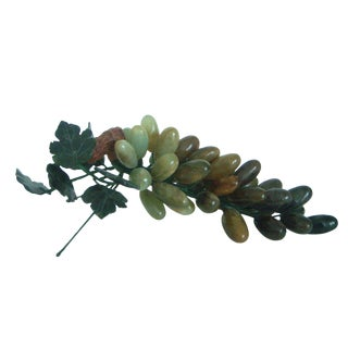 Polished Onyx Green Grapes on the Vine