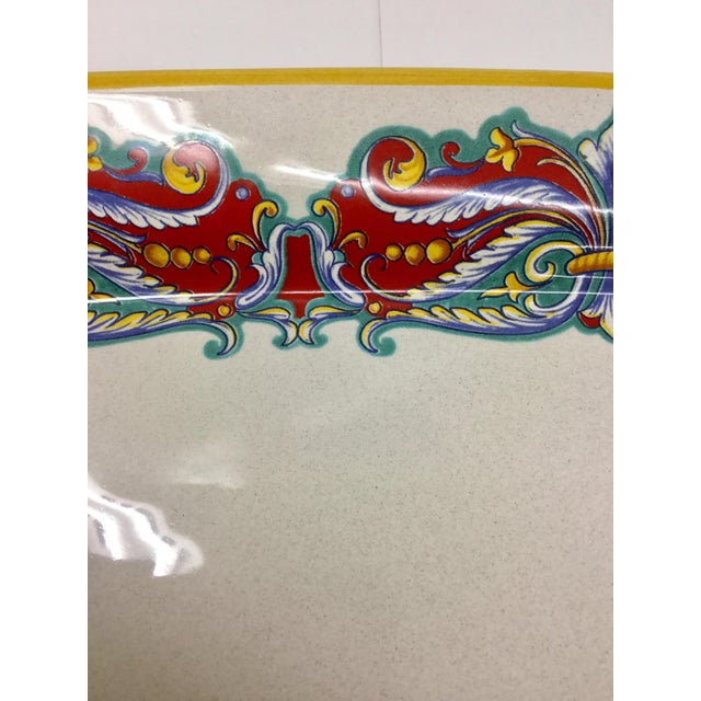 Vintage Italian Ceramica Nova Deruta Hand Painted Platter For Sale In Boston - Image 6 of 10