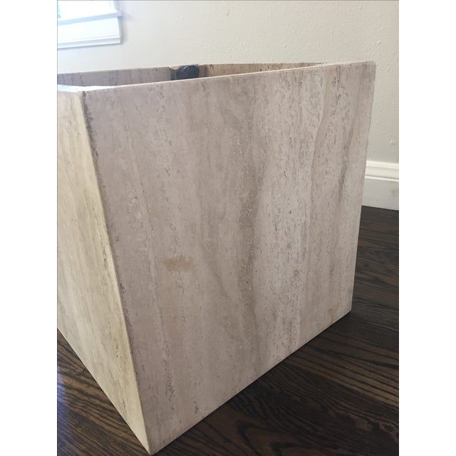 Italian Travertine Marble Coffee Table For Sale - Image 9 of 9