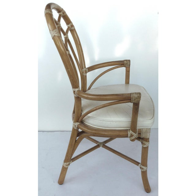 McGuire Rattan Dining Chairs - Set of 6 - Image 4 of 10