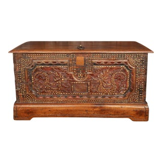 Mother of Pearl Inlaid Trunk For Sale