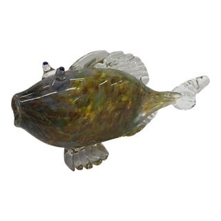 1990s Murano Glass Fish Figurine For Sale