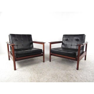 Pair of Unique Vintage Modern Lounge Chairs Preview