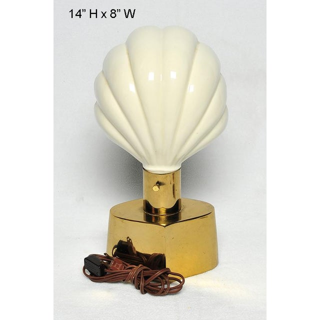 1940s Laurel Shell Lamp For Sale - Image 5 of 9