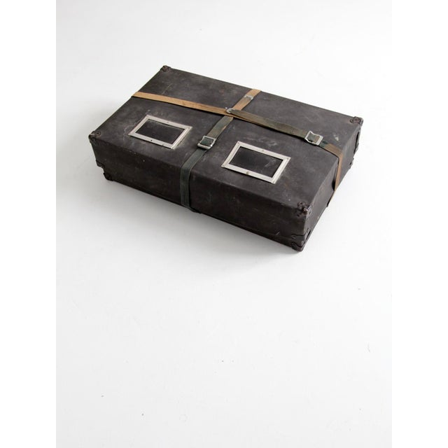 Industrial Vintage Laundry Mailing Box For Sale - Image 3 of 8