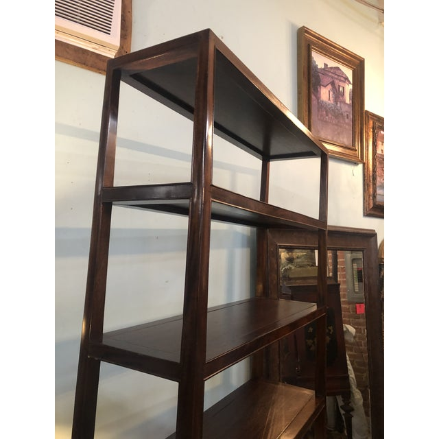Asian Modern Wood Etagere For Sale - Image 9 of 13
