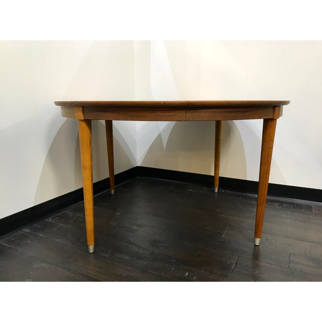 Mid-Century Modern B P John Wood Dining Table For Sale - Image 4 of 12