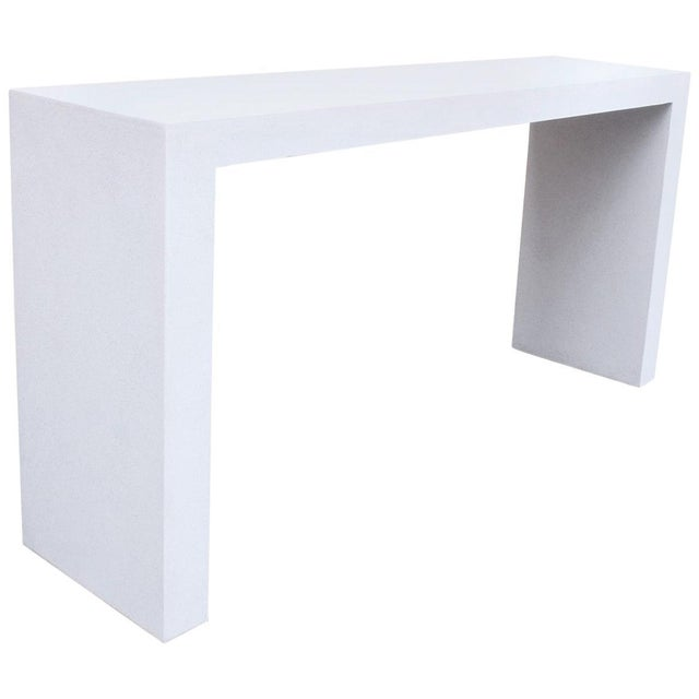 Plastic Cast Resin 'Lynne Tell' Console Table, White Stone Finish by Zachary A. Design For Sale - Image 7 of 7