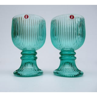 Vintage l'Ittala Round Fluted Mint Cordial Glasses - Set of 2 Preview
