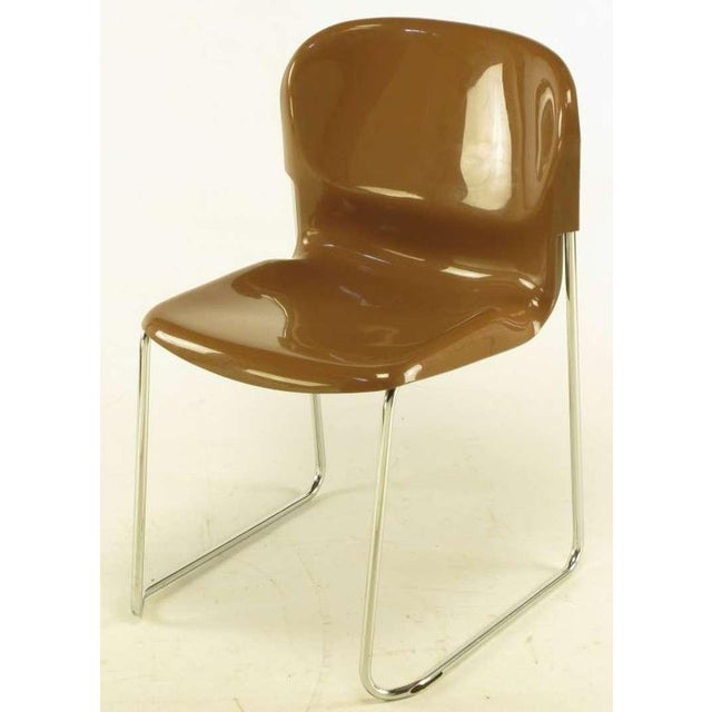 Four Gerd Lange West German Chrome SM 400 Swing Chairs - Image 5 of 9