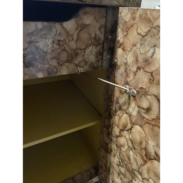 Mid-Century Modern Henredon Faux Tortoise Sideboard For Sale - Image 9 of 11
