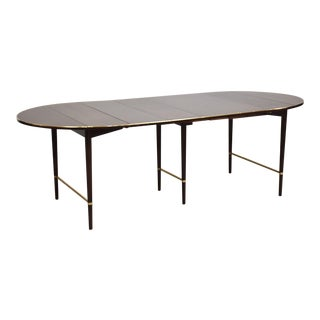Paul McCobb Mahogany and Brass Dining Table For Sale