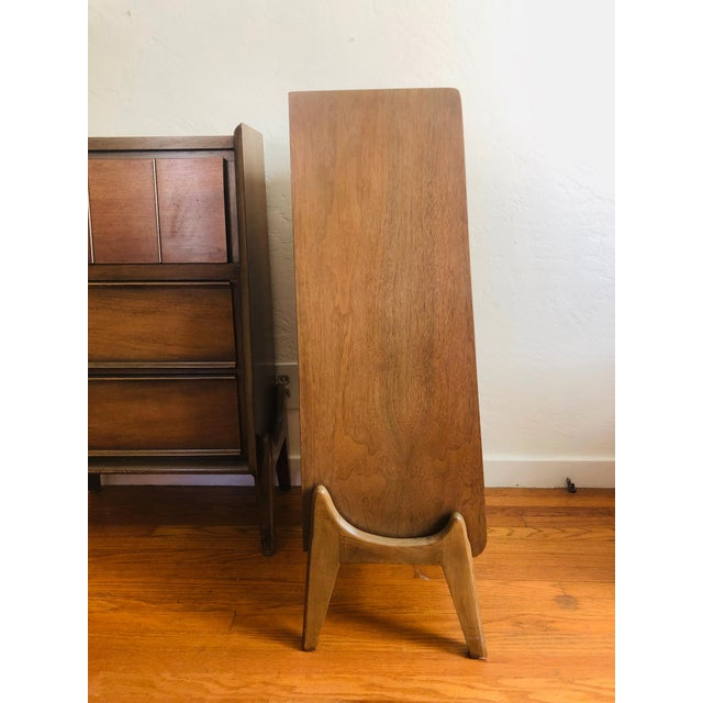 Pair of Mid Century Walnut Nightstands For Sale - Image 11 of 12