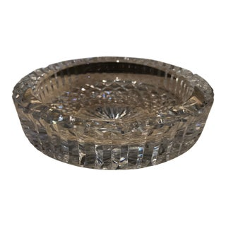 1990s Waterford Cut Crystal Glass Heavy Ashtray For Sale