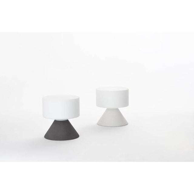 Samuli Naamanka for Innolux Oy 'Concrete' Table Lamp in Dark Gray For Sale In Los Angeles - Image 6 of 10