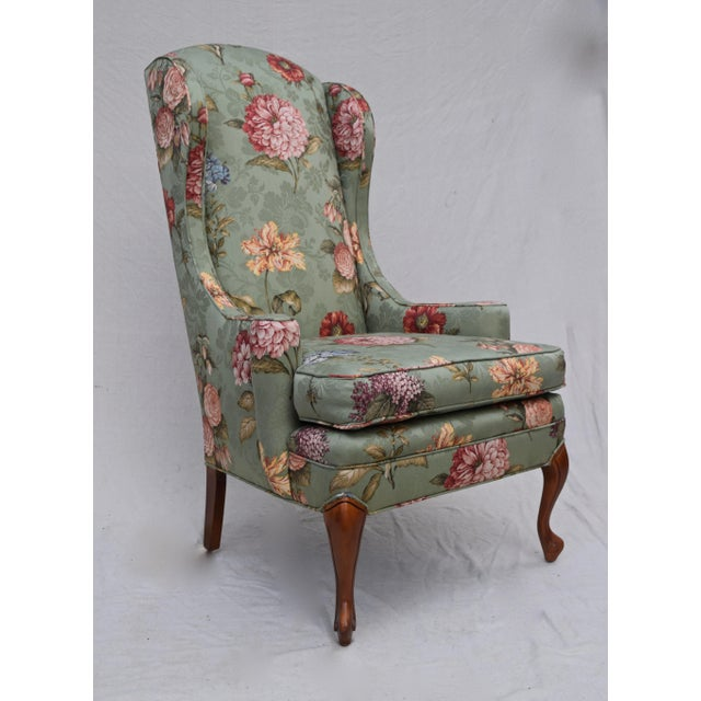 Baker Furniture Company Baker Wing Back Chair For Sale - Image 4 of 10