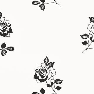 Sample - Schumacher Adele Wallpaper in Blackwork For Sale