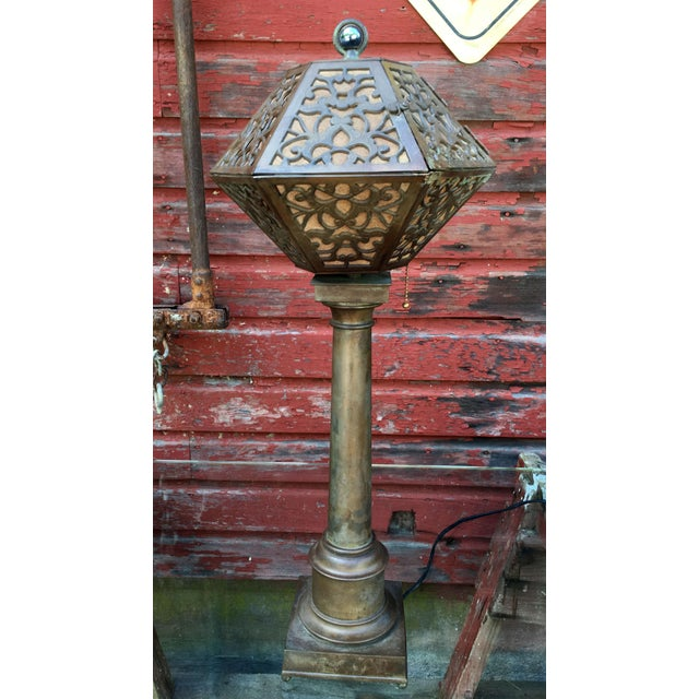 1920's American Arts & Crafts Movement Bronze Table Lamp For Sale - Image 9 of 9