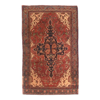 Antique Red Farahan Persian Area Rug For Sale