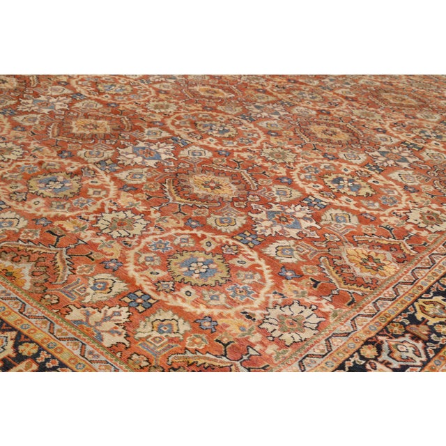 Islamic 1920s Vintage Persian Sultanabad Rug - 10′4″ × 16′ For Sale - Image 3 of 10