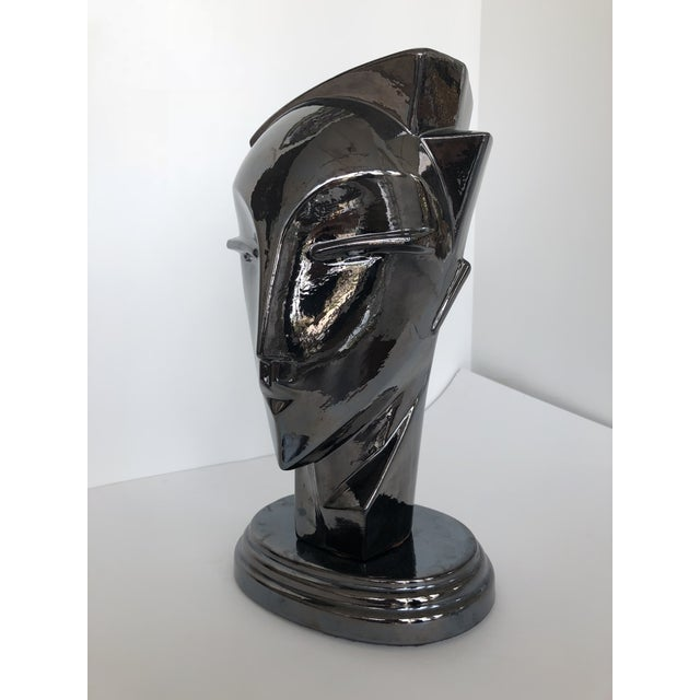 "20th Century Abstract Porcelain Art Deco ""Myng"" Head Sculpture Bust - Image 5 of 7"