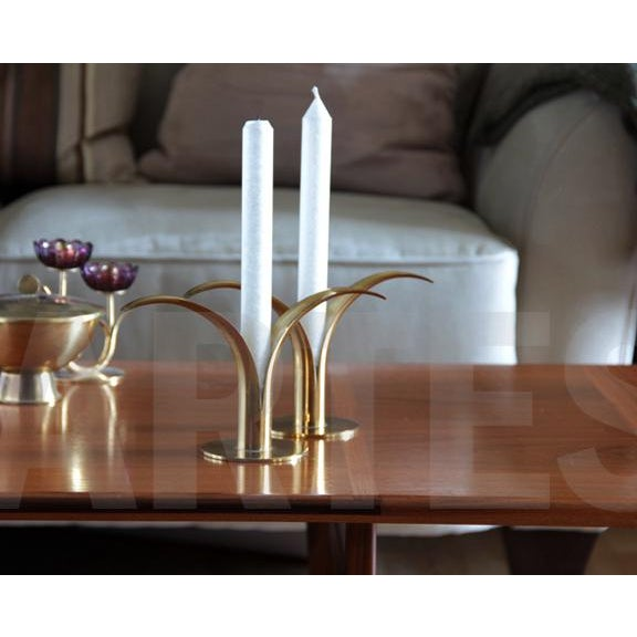 Swedish Brass Candlesticks- A Pair - Image 5 of 5