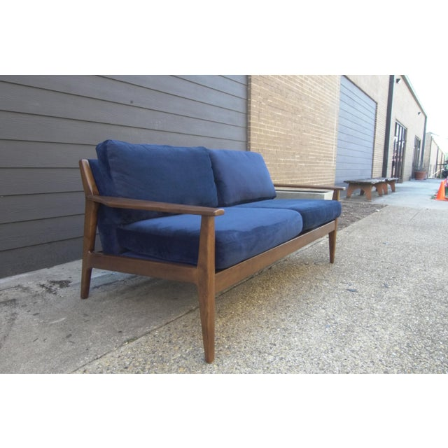 Swell Mid Century Modern Style West Elm Loveseat Machost Co Dining Chair Design Ideas Machostcouk