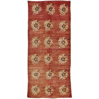 20th Century Turkish Oushak Gallery Rug - 5′7″ × 12′5″ For Sale