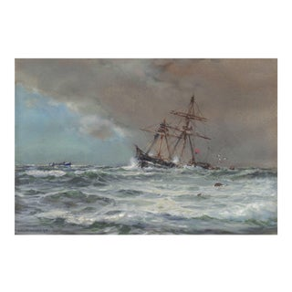 'Rescue at Sea' by Arthur Wilde Parsons, 1910; Royal Academy, English Seascape, Royal Society of British Artists, Bristol, Benezit For Sale