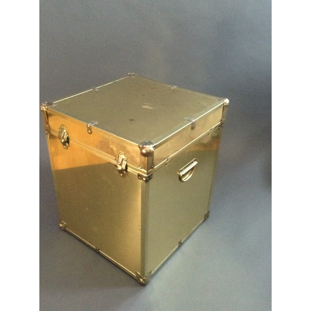 1970's Brass Clad Trunk - Image 7 of 7