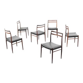 Scandinavian Norwegian Alf Aarseth Gustav Bahus & Eft Rosewood Dining Chairs - Set of 6 For Sale