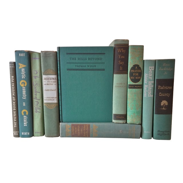 Green Distressed Books - Set of 10 - Image 1 of 4
