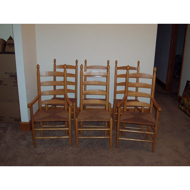 Set of 6 Ladder Back Chairs - Image 6 of 6