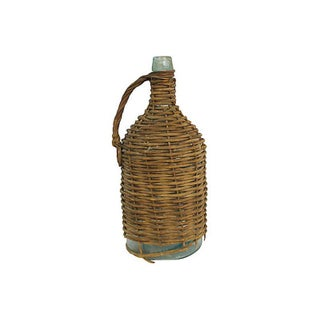 Antique French Woven Glass Demijohnn Preview