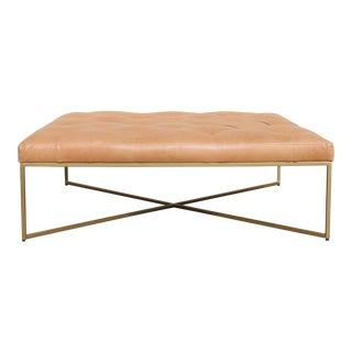 Article Furniture Leather Ottoman/ Coffee Table