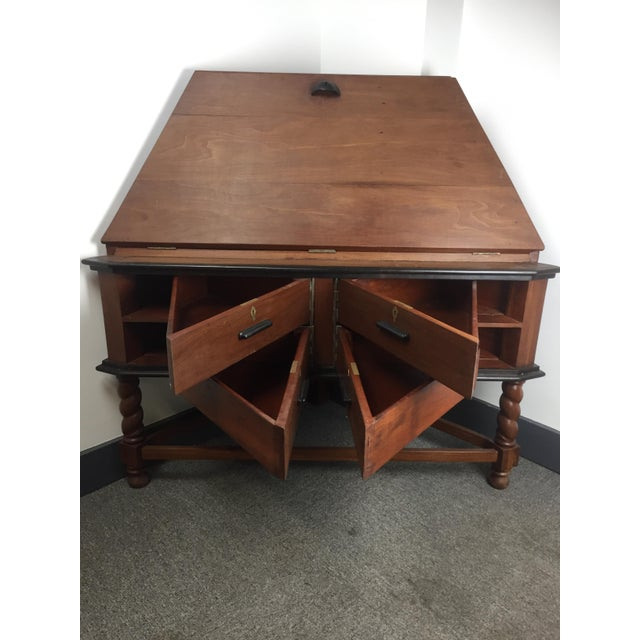 Antique Corner Desk - British India (C. 1880) - Red Jackwood - Image - Antique Corner Desk - British India (C. 1880) - Red Jackwood Chairish