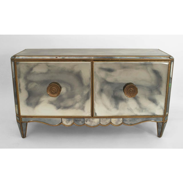 Pair of French Mirrored Commodes For Sale - Image 4 of 4