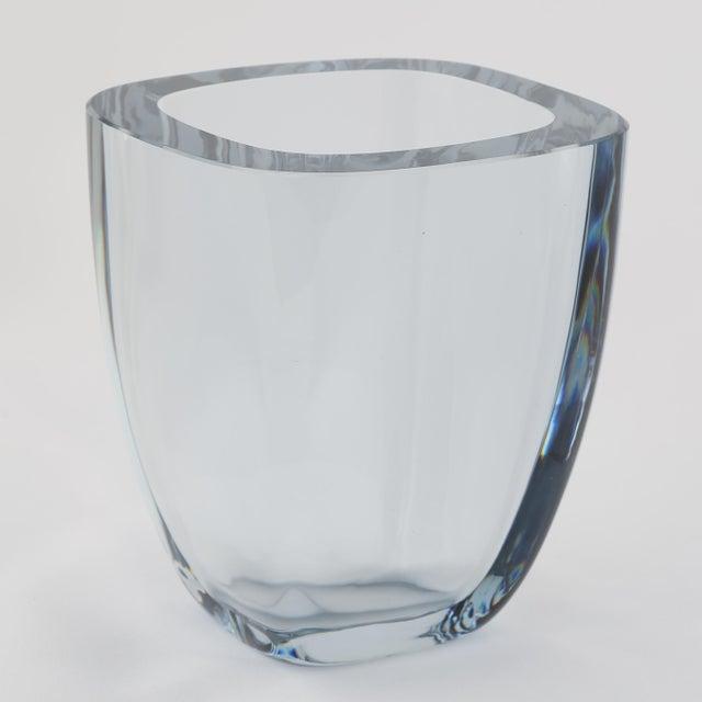 Art Deco 1950's VINTAGE STROMBERGSHYTTAN GLASS VASE For Sale - Image 3 of 8