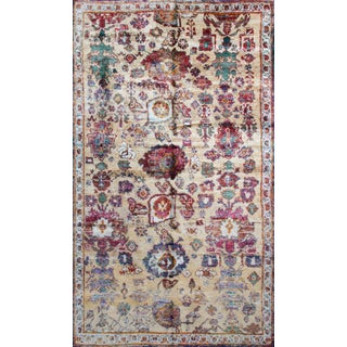 Rug & Kilim's Agra Inspired Multicolor Wool and Silk Rug- 5′4″ × 9′2″ For Sale