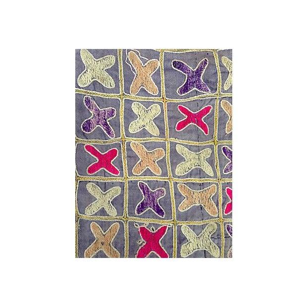 Embroidered Vintage Turkish Textile For Sale - Image 4 of 4