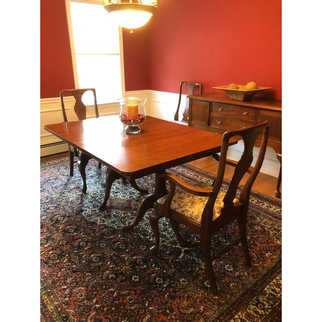 Brown Craftique Solid Mahogany Dining Set For Sale - Image 8 of 10