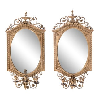 Early 19th Century Giltwood Girandole Mirrors, a Pair For Sale